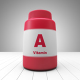 Vitamin A red bottle