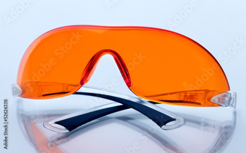 Glasses scientist isolated on white