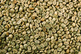 Fototapety Green coffee beans, close up