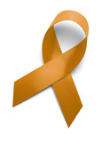 Orange Gold Ribbon