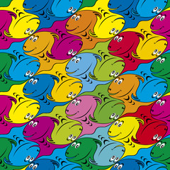 Seamless Fish Background