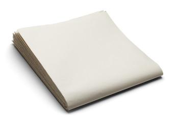 Blank Sunday Paper