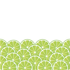 Fruity background with lime slices.