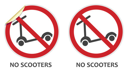No Scooters Sign