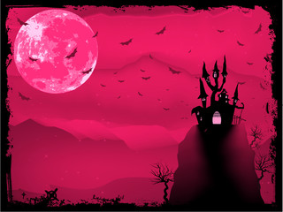 Halloween composition with horror house. EPS 8