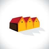 House(home) or store(shed) symbol for real estate- vector graphi poster