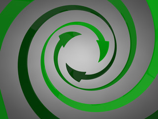 Spiral Arrows Green