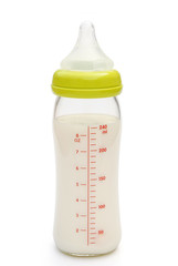 baby bottle stand up with clipping path