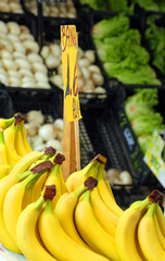 yellow banana and fresh fruit for sale at vegetable market