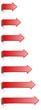 Set rote Pfeile