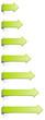 Set grüne Pfeile