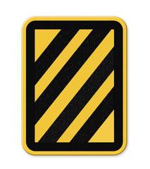 Yellow and black diagonal stripe warning