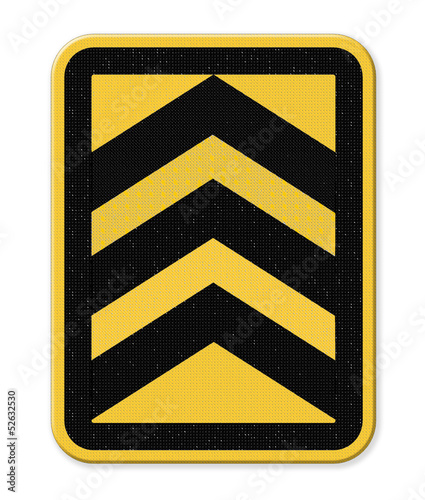 Yellow and black arrow