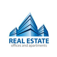 Vector Logo property developer, house and city