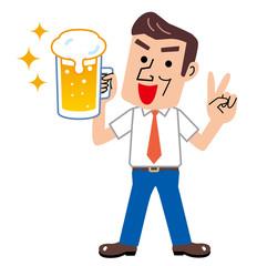ビール 乾杯 男性