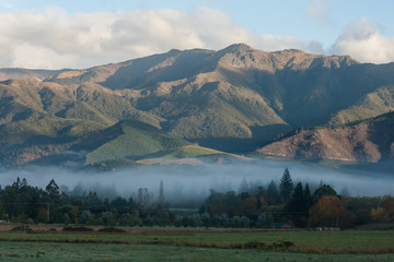 early morning mist above Hanmer Springs