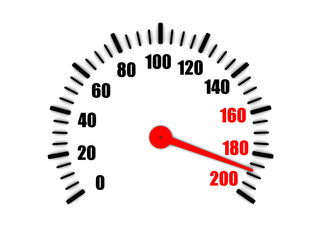 high speed on a speedometer