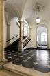 ancient hall of a classic historic building, interior