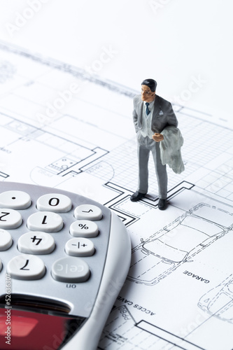 male investor evaluating cost of building