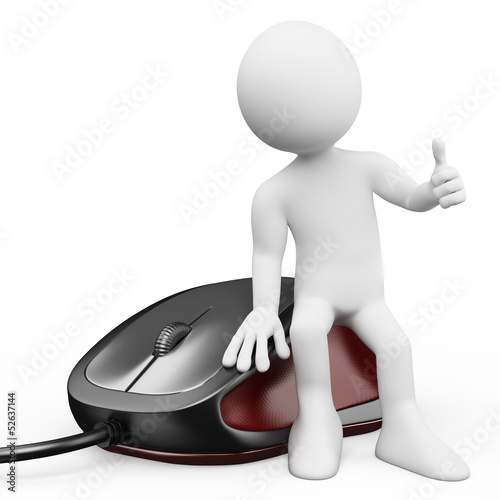 3D white people. Computer mouse