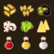 Italian food icon set