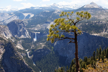 View from Glacier Point Road towards Half Dome