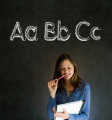 Learn alphabet write writing teacher
