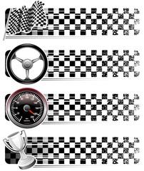 auto racing banners