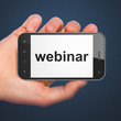 Education concept: Webinar on smartphone