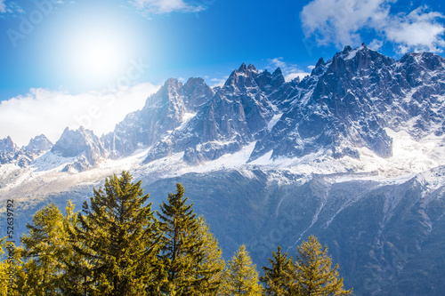 Beautiful mountain scenery in the Alps