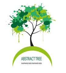 albero astratto formato da macchie di colore