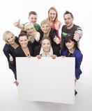Fototapety Studentengruppe, freigestellt