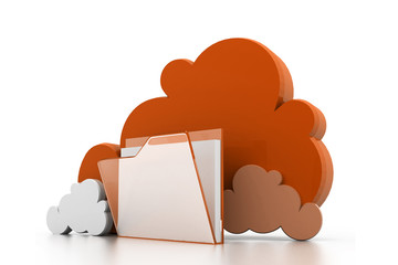 Cloud computing folder & files concept.
