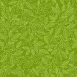 Seamless pattern of stylized leaves