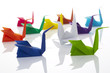 Origami, Schwäne, Kranich, Individuell, weiß
