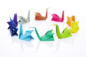 Origami, Schwäne, Kreis 1