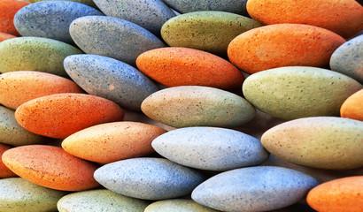 Galets d'argile coloré