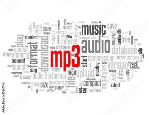 MP3 Tag Cloud (music audio files format download web button)