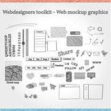Designers toolkit - Web mockup graphics poster