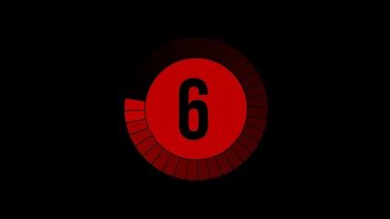 Compte à rebours 10-0 noir / rouge