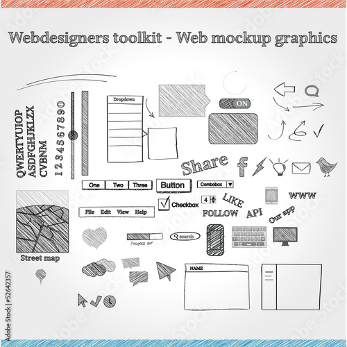 Designers toolkit - Web mockup graphics