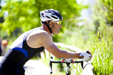 Pausa di ciclista
