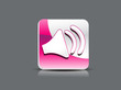 abstact glossy sound icon