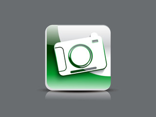 abstact glossy camera  icon