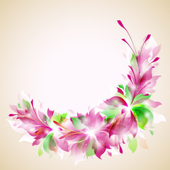 "vector template ""abstract floral wreath"""