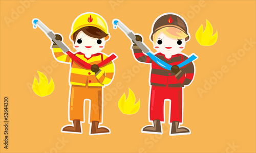 Fireman cute for kid