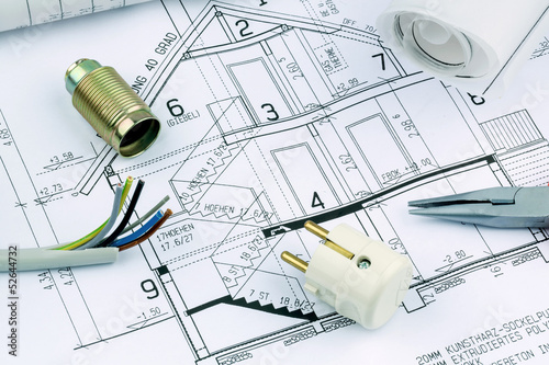 blueprint for a house. electrical