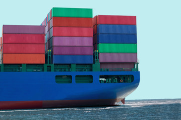 Container Ship Carrying Cargo