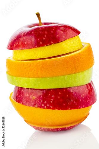 verschiedne slices of fruits