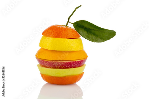 verschiedne slices of fruits
